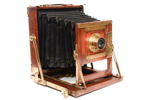 Wooden, Camera, Field, Vintage, Retro, Wood, Bellows
