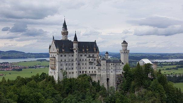 Castle Neuschwanstein, Castle, Schwangau, Building