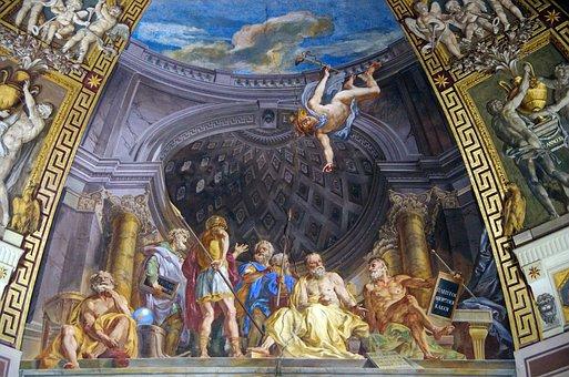 Italy, Rome, Vatican, Fresco, Dome, Ceiling, Decoration