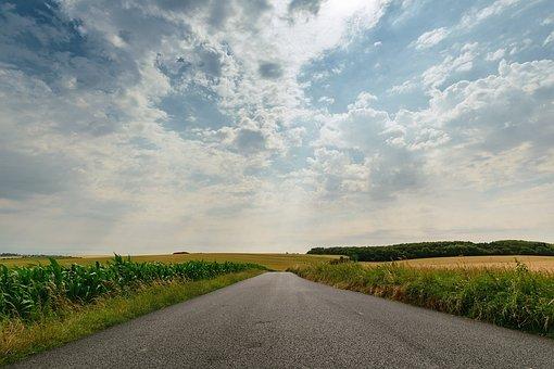 Sky, Landscape, Harvest, Grain, Gold, Farm, Cereal