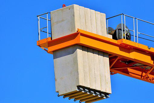 Crane, Baukran, Counterweight, Site