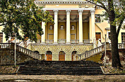 Dnieper, The Palace Of Students, Columns, Stairs