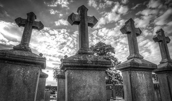 Grave, Stones, Creepy, Horror, Cemetery, Tomb