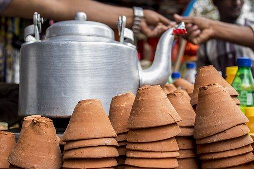 Tea, Tea Stall, India, Stall, Food, Market, Traditional