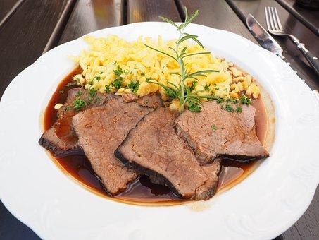 Sauerbraten, Meat, Meat Dish, Pot Roast, Braised Roast