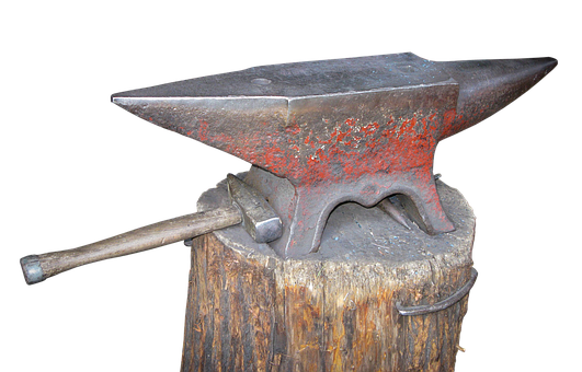 Anvil, Hammer, Blacksmith, Forge, Iron, Craft, Metal