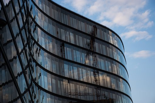 Glass Facade, Modern Architecture, Office Building