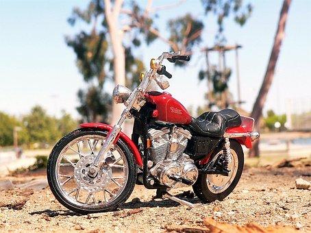 Harley, Davidson, Motorcycle, Motor, Bike, Wheel
