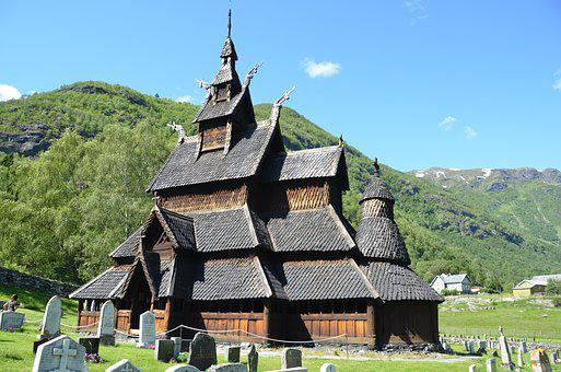 Norway, Borgund, Church