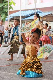 Thailand, Dance, Pupils, The Little Girl, Cute