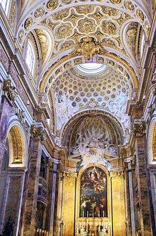 Italy, Rome, Church, St-louis-des-français, Nave