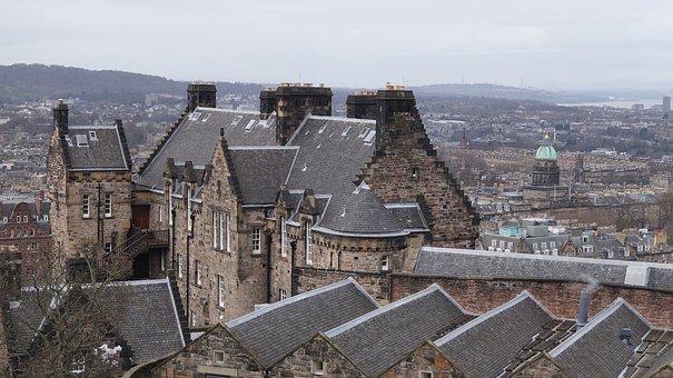 Scotland, Edinburgh, Spring, March, Castle, Roof