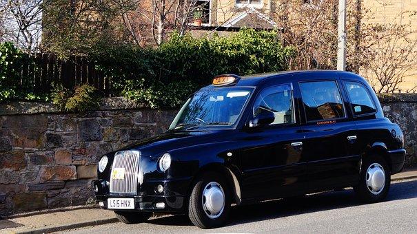 Edinburgh, Scotland, Taxi, Cab, Transport, Spring