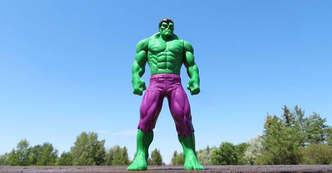 Incredible Hulk, Superhero, Green, Strong, Strength