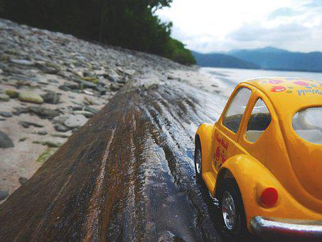 Stray, Ride, Beach, Toy