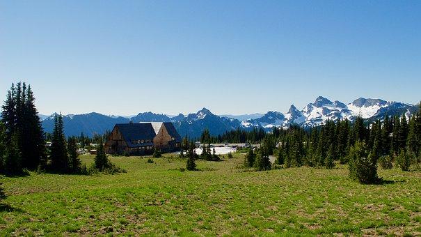 Mountains, Lodge, Landscape, Travel, Hut, Alpine