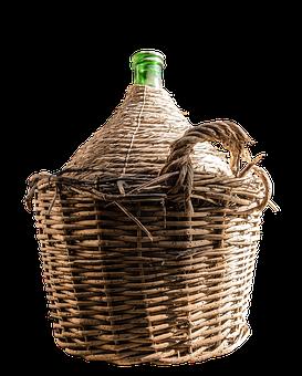 Balloon, Wine Balloon, Balloon Bottle, Basket Bottle
