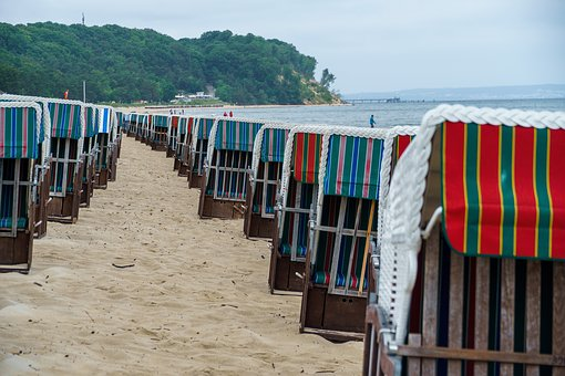 Beach Chair, Rügen Island, Baabe, Baltic Sea, Beach