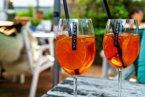 Aperol Spritz, Orange, Glass, Alcohol, Cocktail Glass