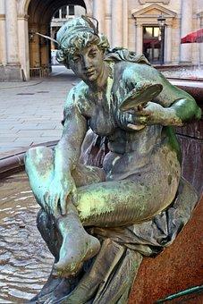 Sculpture, Statue, Hamburg, Hamburgensien, Rathausmarkt