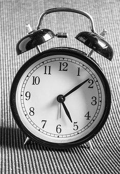 Clock, Black, Ring, Time, Hour, Alarm, White, Design