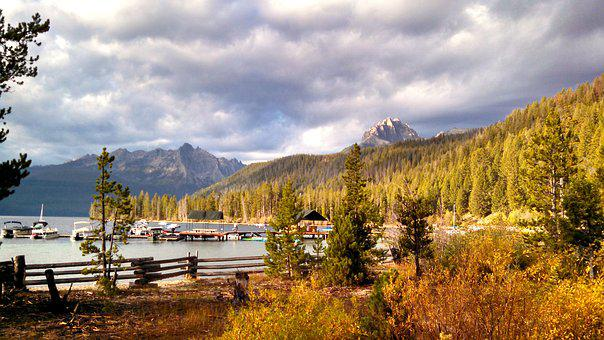Redfish Lake, Sawtooth Mountains, Idaho, Lake, Nature