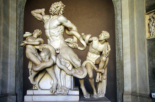 Italy, Rome, Vatican, Museum, Group Of The Laocoon
