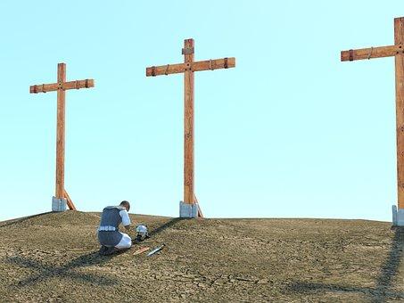 Legionnaire, Cross, Christianity, Calvary, Faith