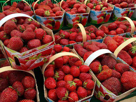 Strawberries, Fruit, Red, Fresh, Local, Organic, Market