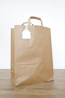 Bag, Paper Bag, Brown Paper Bag, Paper, Brown, Blank