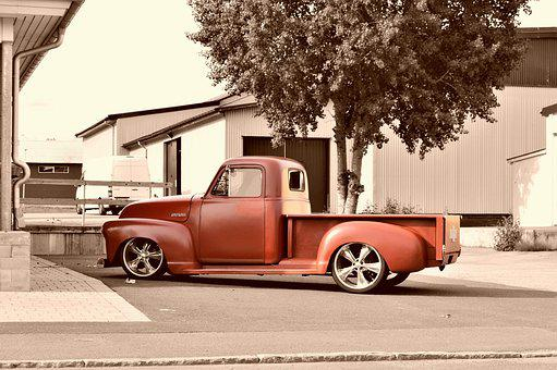 Chevrolet, Chevy, Pickup, Truck, Car, Platform Truck