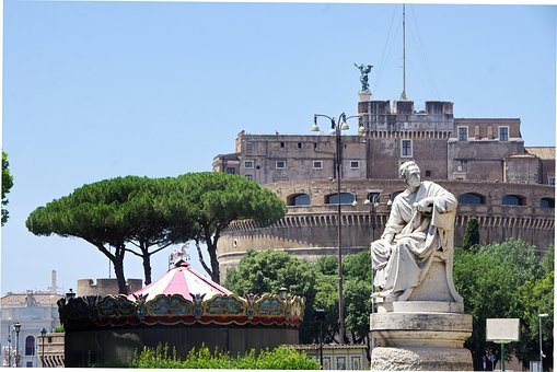 Italy, Rome, Vatican, Castle, St-angel, Fortress, Pope