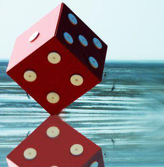 Cube, Craps, Play, Luck, Lucky Dice, Red