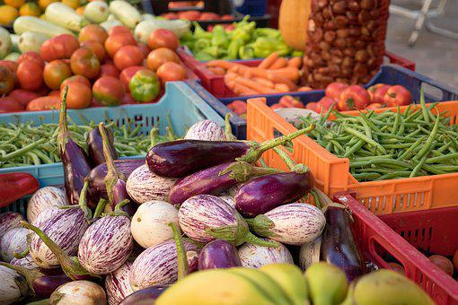 Vegetables, Tomatoes, Red, Food, Healthy, Market Stall