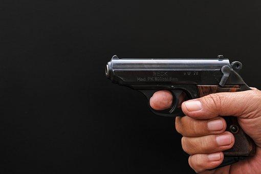 Pistol, Weapon, Hand Gun, Gun, Blank Gun, Shoot, Game