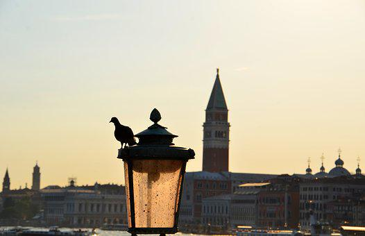 St Mark's Basilica, Venice, Dove, Street Light