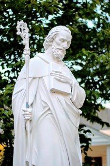 Saint Benedict, Statue, Catholic, Virginia