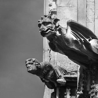 Gargoyle, Sculpture, Gothic, Stone, Demon, Church