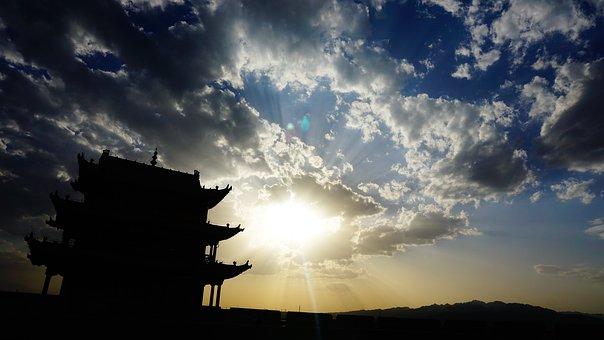 Sunset, The Great Wall, Jiayu Guan