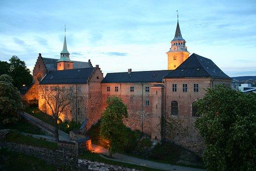 Akershus, Fortress, At Night, Norway, Akershus Fortress