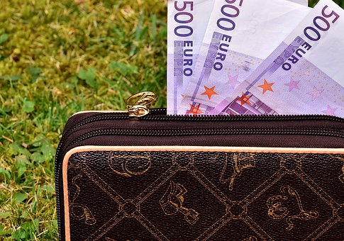 Purse, Seem, Bank Note, 500 Euro, Currency, Euro, Save
