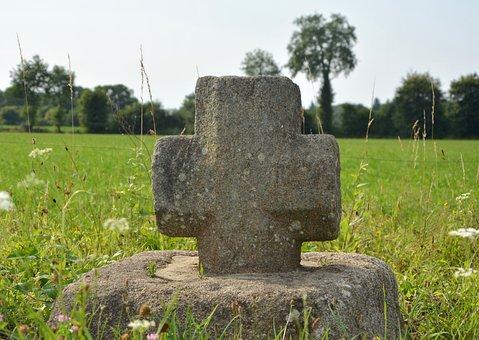 Stone Cross, Sculpture Religious, Religion, Belief