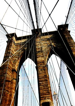 Brooklyn, Ny, Bridge, Landmark, Famous, Manhattan, New
