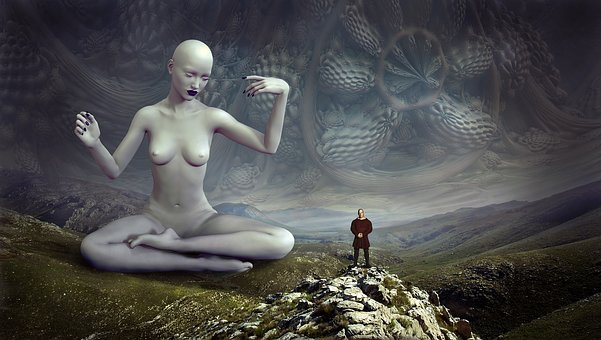 Fantasy, Deity, Landscape, Dimension, Human, Woman