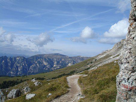 Dolomites, Alpine, South Tyrol, Mountains, Trail