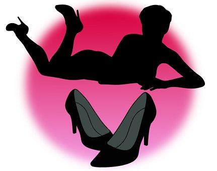Shoes, Woman, Women, Silhouette, Fashion, Female