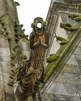 Gargoyle, Pierre, Prayer, Church