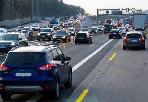 Traffic, Jam, Vehicles, Highway, Auto, Drive
