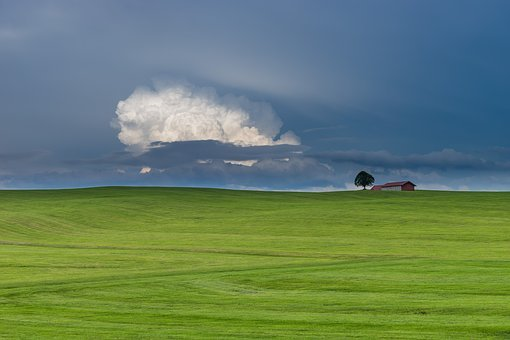 Nature, Landscape, Isolated, Summer, Sky, Tree, Home