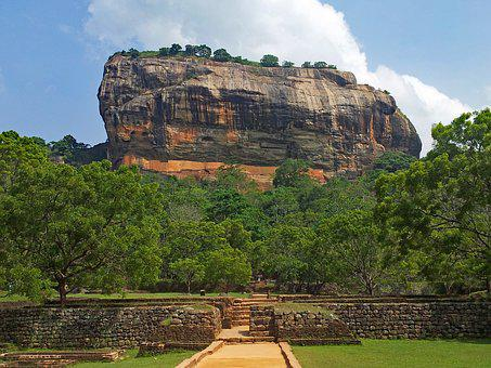 Sigiriya, Sri Lanka, Rock, Landscape, Asia, Nature